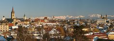 Sibiu, European Capital of Culture 2007; on the background the highest peak of the Carpathian Mountains, Moldoveanu 2544 m.