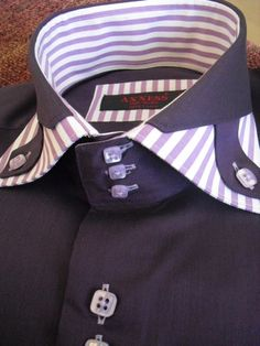 Mens High Collar Shirts, Shirt Collar Styles, Mens Designer Shirts, Mens Luxury Shirts, Couples African Outfits, Bespoke Shirts, Stylish Mens Outfits, Mens Fashion Suits, Suit And Tie