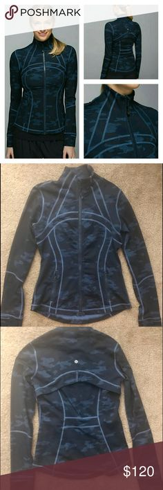 lululemon define jacket blue camo oil silk. Sz 6 lululemon define jacket blue camo oil silk. Sz 6. VGUC lululemon athletica Jackets & Coats
