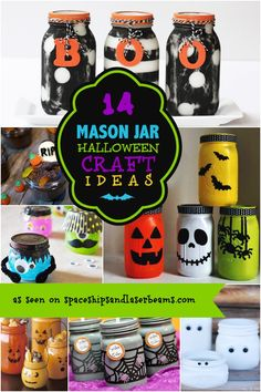 14 Halloween Mason Jar Crafts - Spaceships and Laser Beams