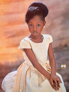 Nigerian Girl Jare Ijalana Dubbed As The 'Most Beautiful Girl In The World' Beautiful Black Babies, The Most Beautiful Girl, Beautiful Children, Black Little Girls, Black Girl Art, Brown Skin Girls, Brown Girl, Pretty People, Beautiful People