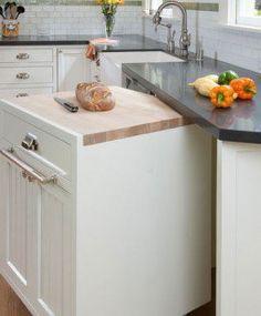DIY Kitchen Organization Ideas Rolling Cabinet, kitchen island