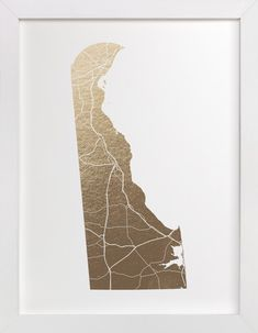 Delaware Map by GeekInk Design at minted.com