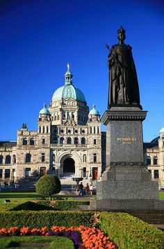 Victoria, Vancouver Island, BC Canada A little slice of England. An hour drive from home. This picture is the Legislative Building. Seat of the British Columbia government. Places Around The World, The Places Youll Go, Places To See, Around The Worlds, Victoria Vancouver Island, O Canada, Canada Travel, Alberta Canada, Ottawa