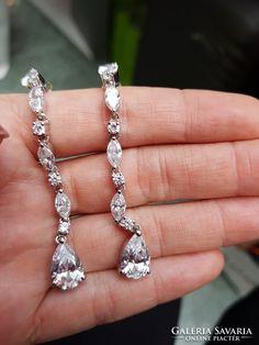 Ezüst cirkóniaköves fülbevaló Silver Jewellery, Jewelry, Diamond Earrings, Jewlery, Jewerly, Schmuck, Jewels, Jewelery, Fine Jewelry