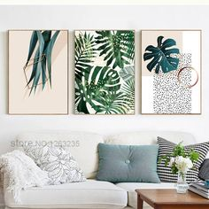 Flower wall Pictures - Green Plants Nordic Poster Wall Art Canvas Painting Posters And Prints Abstract Leaf Wall Pictures For Living Room Unframed. Copper Wall Art, Metal Tree Wall Art, Framed Wall Art, Metal Wall Art Decor, Leaf Wall Art, Living Room Pictures, Wall Pictures, Wall Decor, Room Decor