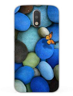 Blue Pebbles - Designer Mobile Phone Case Cover for Moto G4