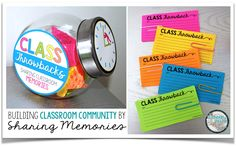 """Build classroom community with this FREE resource where students write down funny, interesting, and memorable moments that happen within the classroom.  Later on in the year, take the cards out for a """"Throwback Thursday"""" activity to share class memories."""
