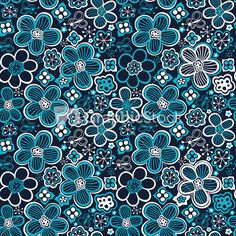 Colorful Floral Seamless Pattern In Cartoon Style. Seamless Pattern Can Be Used For Wallpaper Stock Image
