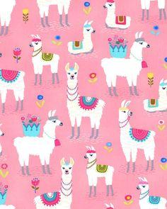 New Cartoon Alpaca Wallpaper Alpacas, Cute Wallpapers, Wallpaper Backgrounds, Iphone Wallpaper, Llama Birthday, Gift Wrapper, Cute Llama, Llama Alpaca, Pink Quilts