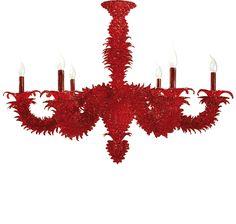 #lampadario #vetro #murano Lampadario classico in vetro di murano rosso. Sistema con 6 luci. H. 75 cm – ø. 95 cm Disponibili su richiesta varianti di dimensioni e colori. > www.danielebiasin.it/portfolio-items/lampadario-in-vetro-di-murano-tutto-rosso/?portfolioID=10997