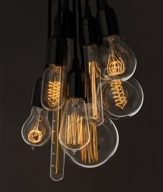 Vintage light bulbs for a beautiful warm glow. Filament bulbs cast a beautiful, warm pool of light that's easy on the eyes and perfect for creating a cosy, relaxing atmosphere.