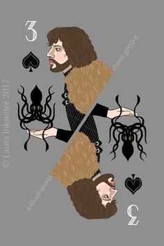 LISTING for M.C Game of Thrones Playing Cards - 3 of Spades (Theon Greyjoy)House of Cards A house of cards is a structure formed of playing cards, as a pastime. House of Cards may also refer to: Game Of Thrones Cards, Hbo Game Of Thrones, Jaqen H Ghar, Catelyn Stark, Game Of Throne Actors, Joker Card, Game Of Trones, Playing Card Games, Deck Of Cards