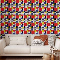 Abstract Pattern Peel and Stick Wallpaper - Canvas Wall Decal / 1 roll: 24W x 120H