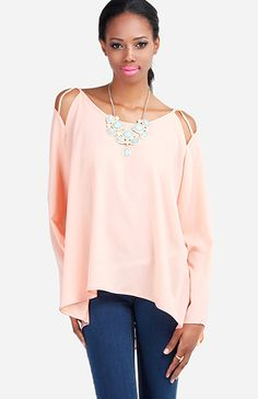 String Cut Out Blouse