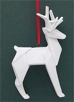 Origami Deer white More