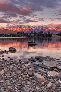 Sunset at Queenstown, South Island, New Zealand ~ by Tony Dailo. Beautiful Sunset, Beautiful World, Beautiful Places, Places To Travel, Places To See, Places Around The World, Around The Worlds, Queenstown New Zealand, New Zealand Travel