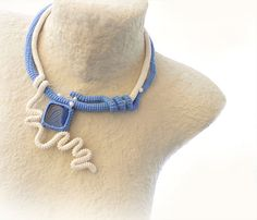 Crochet Tube Jewelry Set Wearable Art #jewelry #art #fashion