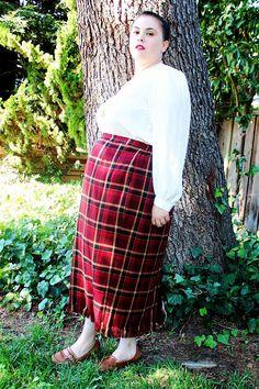 Plus Size - Vintage Paisley Neck Tie Pleated Skirt Dress w ...