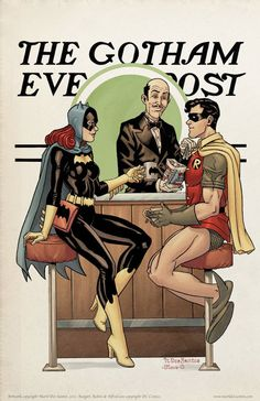 Batman Character Art In The Style Norman Rockwell's Iconic Saturday Evening Post Covers | Geekologie