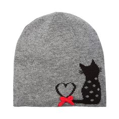 Alice Hannah Flossy Cat Beanie Hat - Luxury Knitted Jaquard Hat