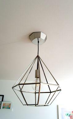 Geometrische Lampe aus Edelstahl in moderner von LousDadMakes https://www.etsy.com/de/shop/LousDadMakes?ref=hdr_shop_menu