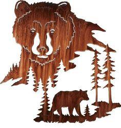 Black Bear Metal Wall Art at Cabela's Wood Burning Patterns, Wood Burning Art, Wood Patterns, Metal Projects, Metal Crafts, Wood Crafts, Diy Wood, Sculpture Metal, Abstract Sculpture