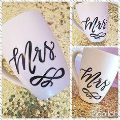 Custom Calligraphy Coffee Mug Ceramic White Coffee Mug