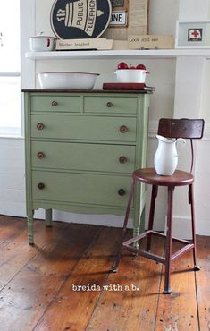 Hand Painted Dresser in Lucketts Green Miss by BreidaWithaB, $425.00
