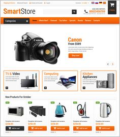 Select from our latest collection of ready to use, premium osCommerce templates for electronics store and create your own website with newest themes, backgrounds and layouts for absolutely free.