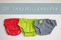 DIY - Tutorial braguita cubrepañal para bebé con patrón gratis