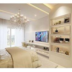 É esse quarto que parece uma sala?! Lindoooo. Projeto por @inovarqui
