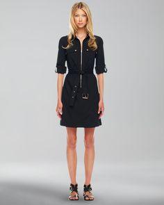 Michael Kors - Belted Zip Shirtdress - http://womenspin.com/clothing/dresses/michael-kors-belted-zip-shirtdress/