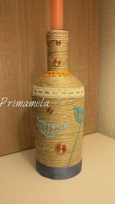 Portacandela/ recycle bottle https://m.facebook.com/Primamela-618616944921762/