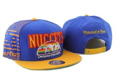 NBA Denver Nuggets Snapback Hats Caps Blue Mitchell And Ness 2450 only US$8.90