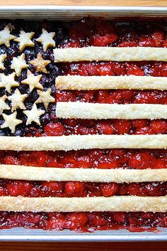 Fourth of July Flag Cobbler Recipe                                                                                                                                                      More