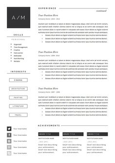 Resume Template For Pages Resume Template 4 Pages  Simplifier  Resume Cv