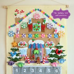 Gingerbread House Advent Calendar Pattern • 24 Ornaments • PATTERN • Instant Digital Download • Merry Christmas by thelullabyloft on Etsy https://www.etsy.com/listing/249100652/gingerbread-house-advent-calendar