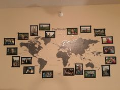 String leading from my pictures to all the places I have gone in the world. I can't wait to add more pictures