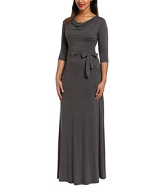 Look at this #zulilyfind! Charcoal Drape Maxi Dress by GLAM #zulilyfinds