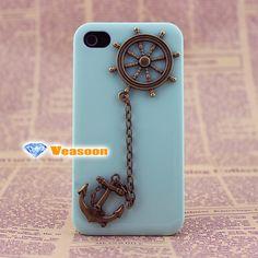 anchor iphone 4 caserudder iphone 5 caseanchor iphone by Veasoon, $12.99