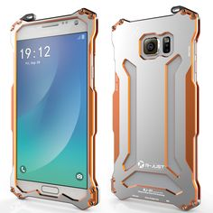R-JUST GUNDAM Aluminum Alloy Double Color Oxidation Metal Protective Case for Samsung Galaxy Note 5 N9200