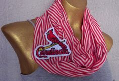 St Louis Cardinals Infinity Summer Scarf by PrivyKittyBoutique, $20.00