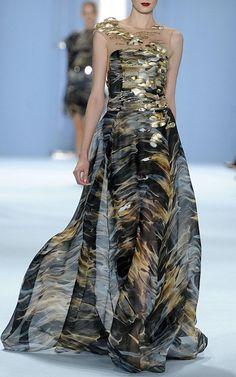 Liquid Print Organza Gown by Carolina Herrera for Preorder on Moda Operandi