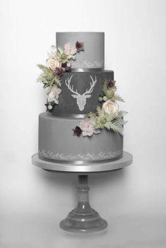 Stag Chalk Board Wedding Cake   wedding cake