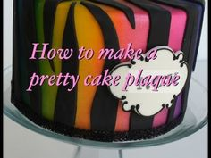 How to write on cake - How to personalize your cake plaque
