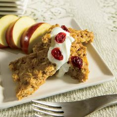 [Diabetes Friendly] Oven-Baked Apple Walnut Pancakes - Whole grains are great! Use sugar substitute of your choice.