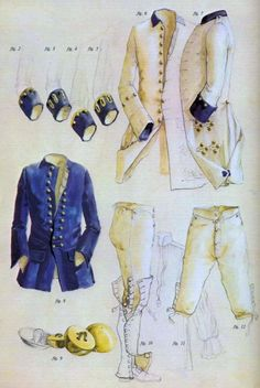 Spats that button into the britches at the knees - 18th Century infantry costume (looks French, if you ask me)
