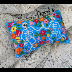 Day of the Dead  Danse Macabre by mygoodbabushka on Etsy, $125.00