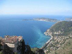 Vue prise du jardin exotique d'Eze Village - Côte d'Azur